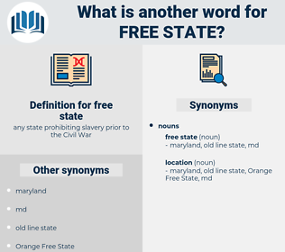 free state, synonym free state, another word for free state, words like free state, thesaurus free state