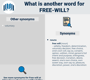 free will, synonym free will, another word for free will, words like free will, thesaurus free will