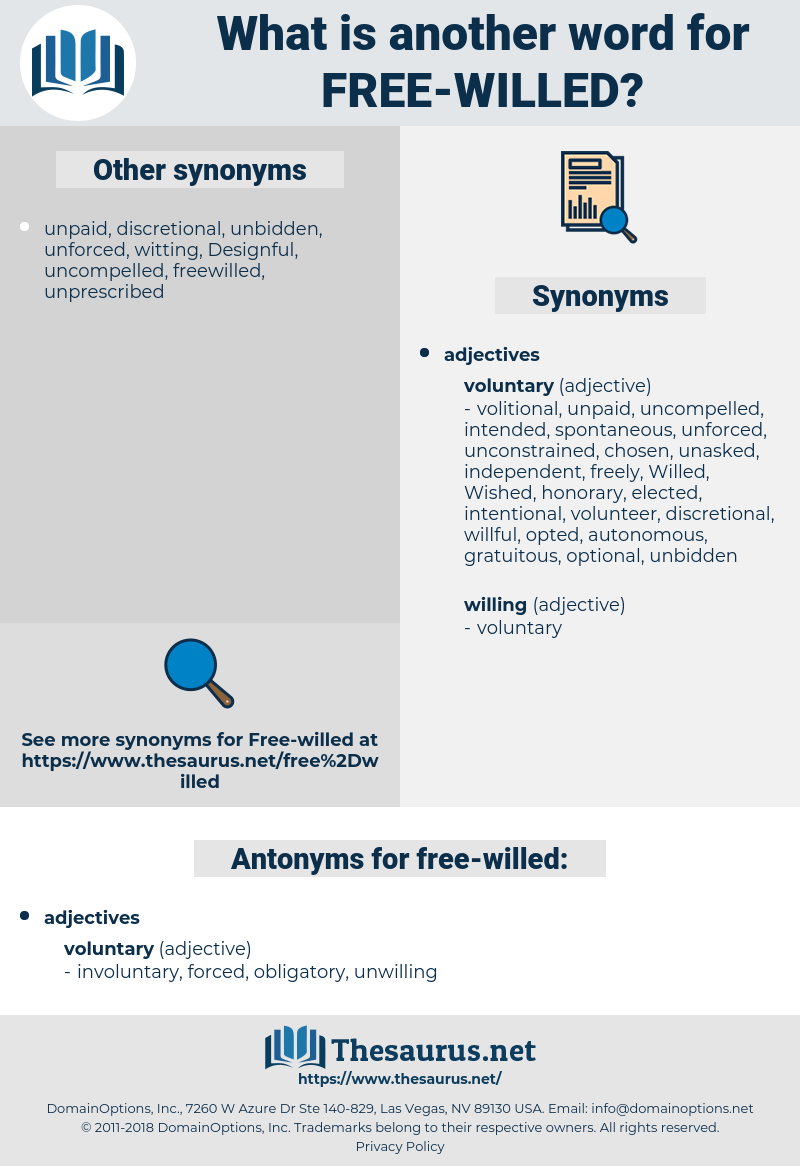 free-willed, synonym free-willed, another word for free-willed, words like free-willed, thesaurus free-willed