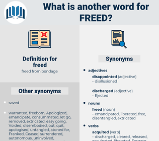 freed, synonym freed, another word for freed, words like freed, thesaurus freed