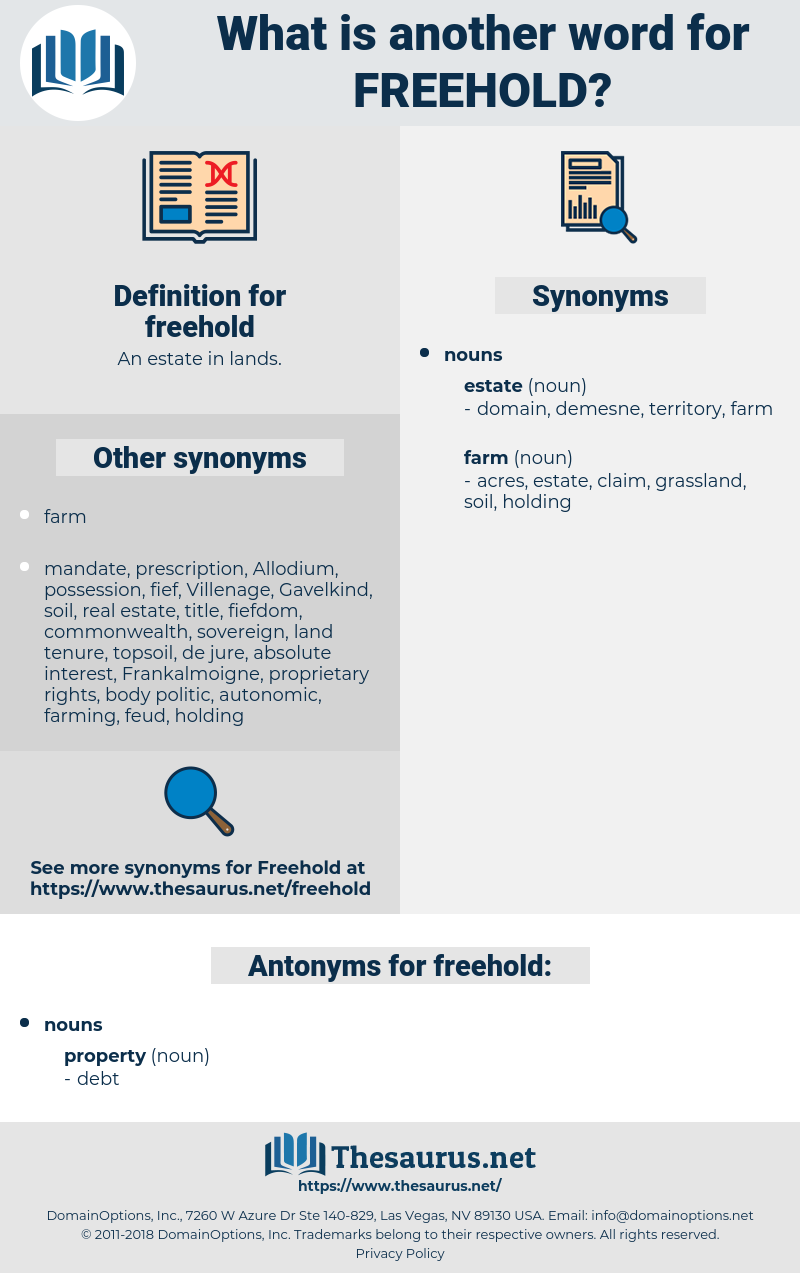 freehold, synonym freehold, another word for freehold, words like freehold, thesaurus freehold
