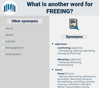 freeing, synonym freeing, another word for freeing, words like freeing, thesaurus freeing