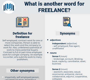 freelance, synonym freelance, another word for freelance, words like freelance, thesaurus freelance