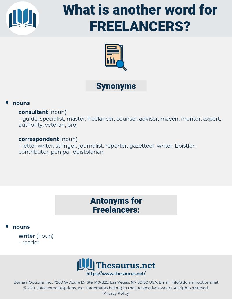 Freelancers, synonym Freelancers, another word for Freelancers, words like Freelancers, thesaurus Freelancers