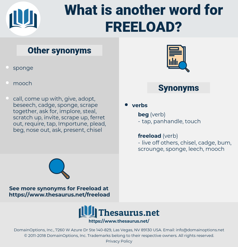 freeload, synonym freeload, another word for freeload, words like freeload, thesaurus freeload