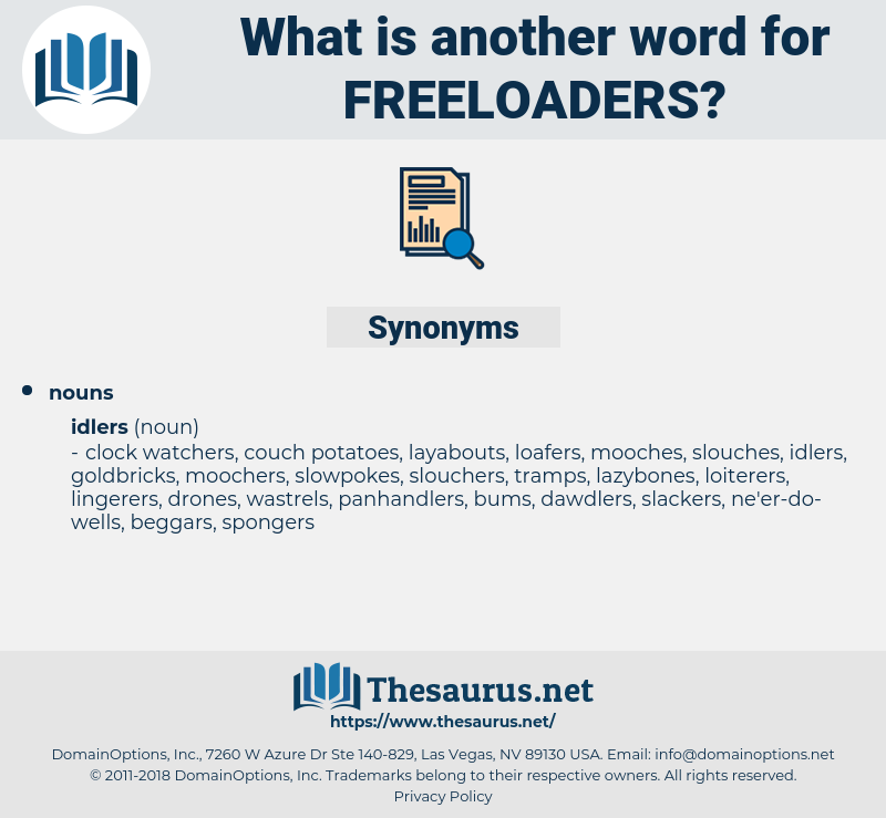 freeloaders, synonym freeloaders, another word for freeloaders, words like freeloaders, thesaurus freeloaders