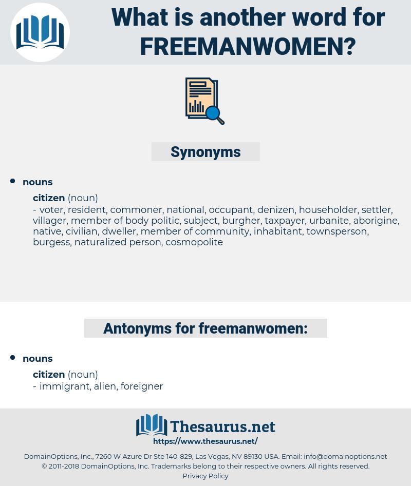 freemanwomen, synonym freemanwomen, another word for freemanwomen, words like freemanwomen, thesaurus freemanwomen