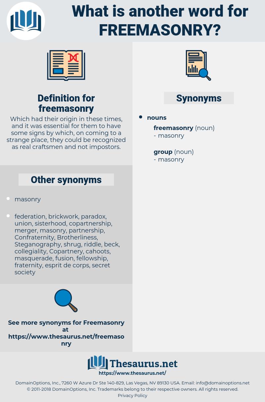 freemasonry, synonym freemasonry, another word for freemasonry, words like freemasonry, thesaurus freemasonry