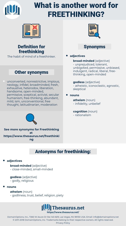 freethinking, synonym freethinking, another word for freethinking, words like freethinking, thesaurus freethinking
