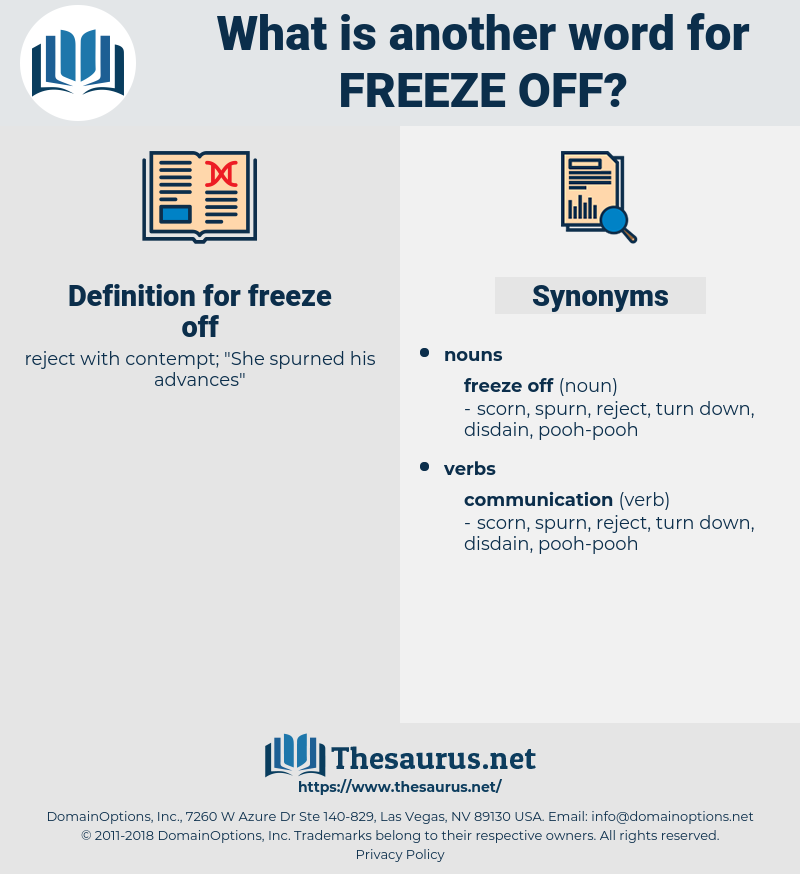 freeze off, synonym freeze off, another word for freeze off, words like freeze off, thesaurus freeze off