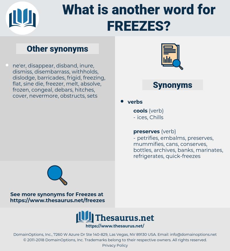freezes, synonym freezes, another word for freezes, words like freezes, thesaurus freezes