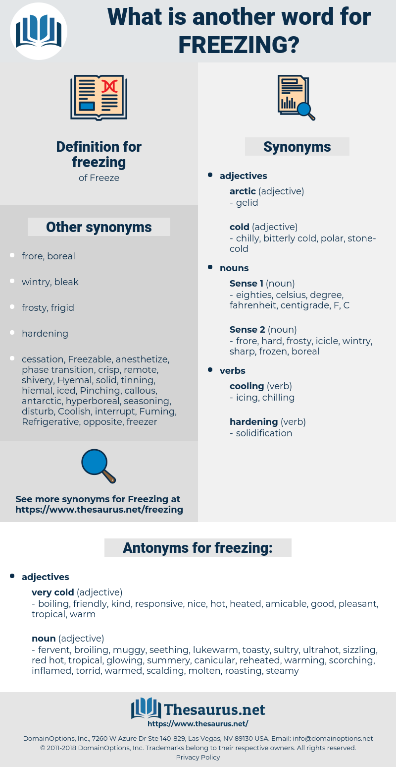 freezing, synonym freezing, another word for freezing, words like freezing, thesaurus freezing