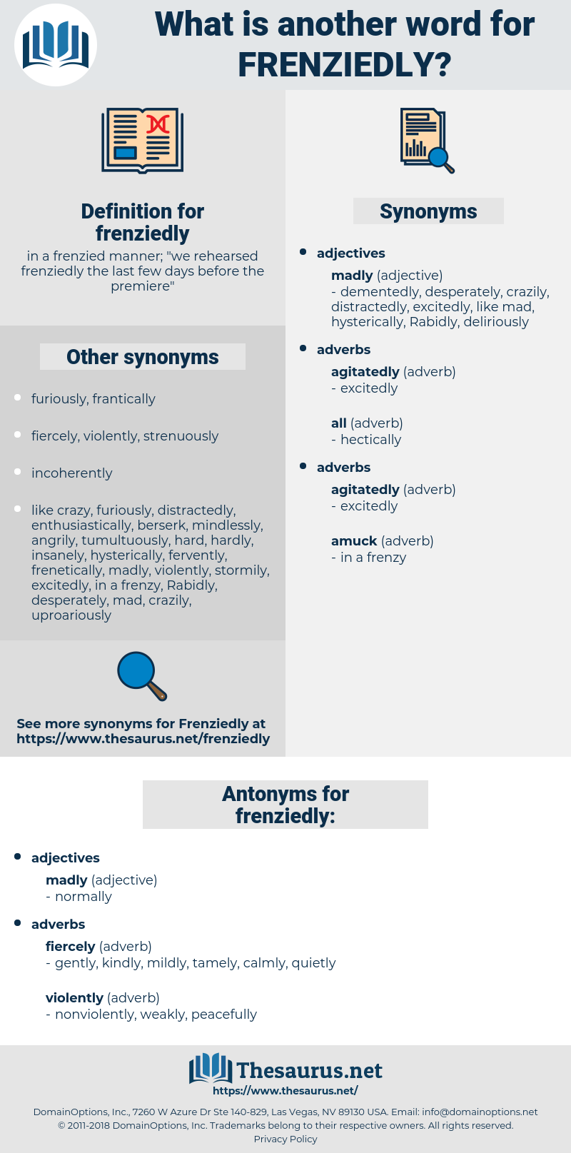frenziedly, synonym frenziedly, another word for frenziedly, words like frenziedly, thesaurus frenziedly