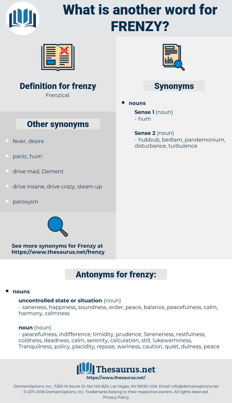 frenzy, synonym frenzy, another word for frenzy, words like frenzy, thesaurus frenzy