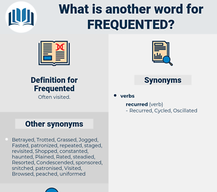 Frequented, synonym Frequented, another word for Frequented, words like Frequented, thesaurus Frequented