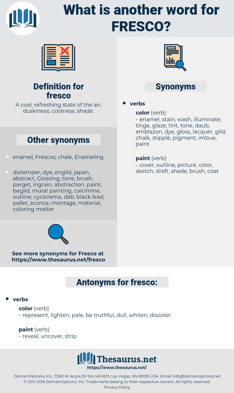 fresco, synonym fresco, another word for fresco, words like fresco, thesaurus fresco