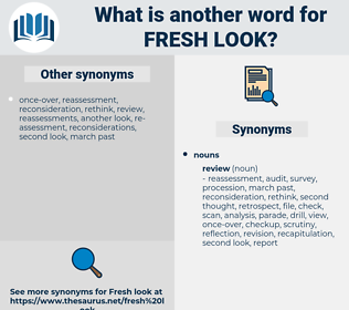 fresh look, synonym fresh look, another word for fresh look, words like fresh look, thesaurus fresh look