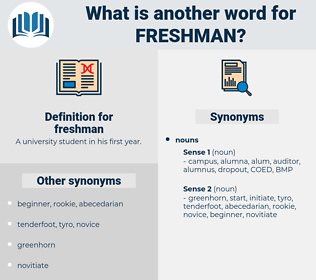 freshman, synonym freshman, another word for freshman, words like freshman, thesaurus freshman