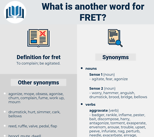 fret, synonym fret, another word for fret, words like fret, thesaurus fret