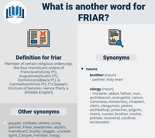 friar, synonym friar, another word for friar, words like friar, thesaurus friar