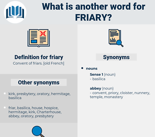 friary, synonym friary, another word for friary, words like friary, thesaurus friary