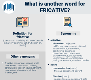 fricative, synonym fricative, another word for fricative, words like fricative, thesaurus fricative