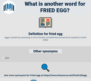 fried egg, synonym fried egg, another word for fried egg, words like fried egg, thesaurus fried egg