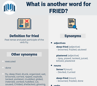 fried, synonym fried, another word for fried, words like fried, thesaurus fried