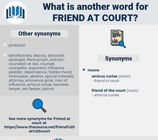 friend at court, synonym friend at court, another word for friend at court, words like friend at court, thesaurus friend at court