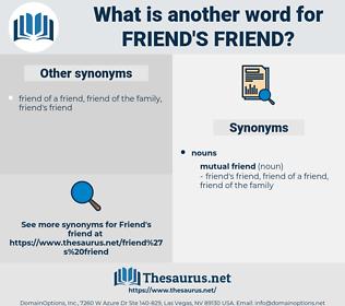 friend's friend, synonym friend's friend, another word for friend's friend, words like friend's friend, thesaurus friend's friend