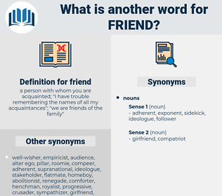 friend, synonym friend, another word for friend, words like friend, thesaurus friend