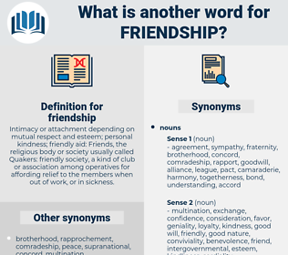 friendship, synonym friendship, another word for friendship, words like friendship, thesaurus friendship