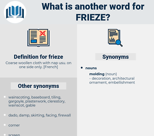 frieze, synonym frieze, another word for frieze, words like frieze, thesaurus frieze