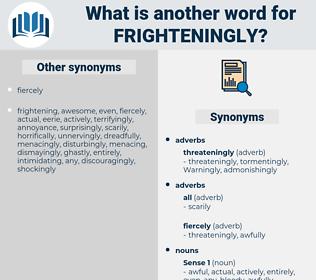 frighteningly, synonym frighteningly, another word for frighteningly, words like frighteningly, thesaurus frighteningly