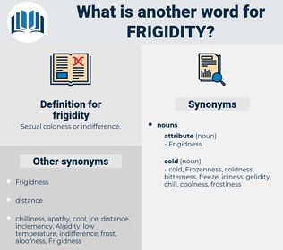 frigidity, synonym frigidity, another word for frigidity, words like frigidity, thesaurus frigidity