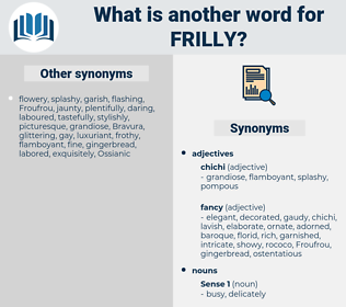 frilly, synonym frilly, another word for frilly, words like frilly, thesaurus frilly