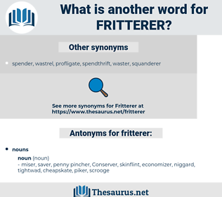 fritterer, synonym fritterer, another word for fritterer, words like fritterer, thesaurus fritterer