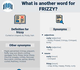 frizzy, synonym frizzy, another word for frizzy, words like frizzy, thesaurus frizzy