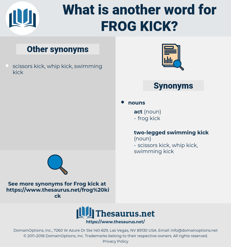frog kick, synonym frog kick, another word for frog kick, words like frog kick, thesaurus frog kick