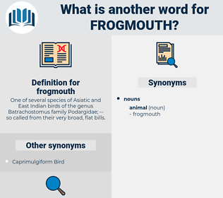 frogmouth, synonym frogmouth, another word for frogmouth, words like frogmouth, thesaurus frogmouth