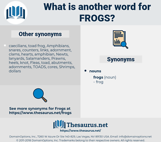 frogs, synonym frogs, another word for frogs, words like frogs, thesaurus frogs