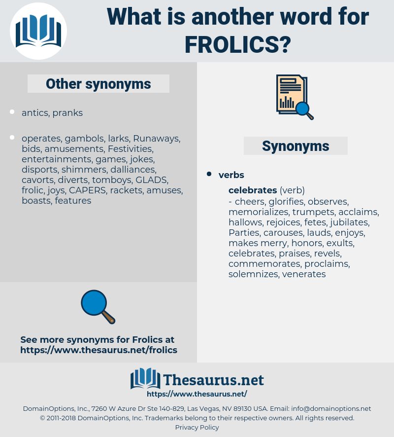 frolics, synonym frolics, another word for frolics, words like frolics, thesaurus frolics