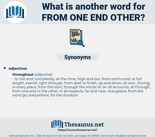 from one end other, synonym from one end other, another word for from one end other, words like from one end other, thesaurus from one end other