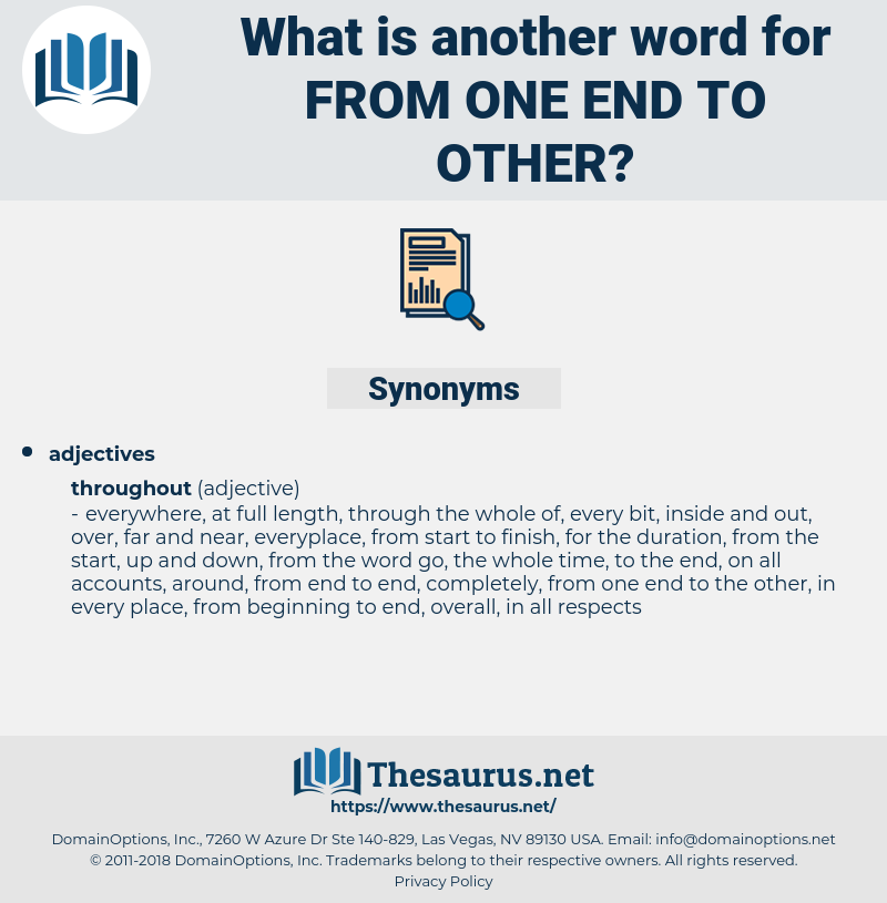 from one end to other, synonym from one end to other, another word for from one end to other, words like from one end to other, thesaurus from one end to other