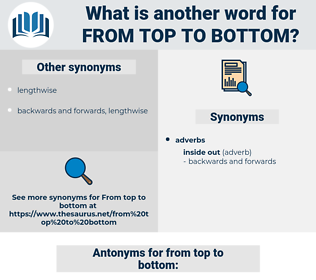 from top to bottom, synonym from top to bottom, another word for from top to bottom, words like from top to bottom, thesaurus from top to bottom