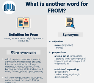 From, synonym From, another word for From, words like From, thesaurus From