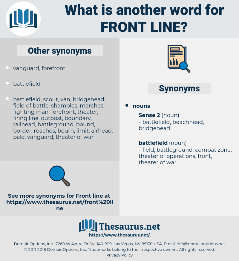 front line, synonym front line, another word for front line, words like front line, thesaurus front line