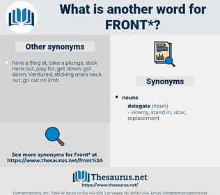 front, synonym front, another word for front, words like front, thesaurus front
