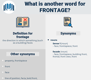 frontage, synonym frontage, another word for frontage, words like frontage, thesaurus frontage