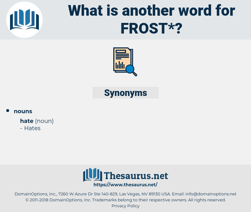 frost, synonym frost, another word for frost, words like frost, thesaurus frost